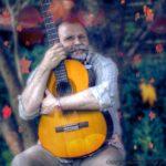portret z gitarą